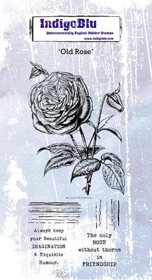 IndigoBlu Old Rose Rubber Stamp (IND0599)