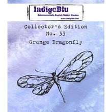 IndigoBlu Collectors Edition 33 Rubber Stamp - Grunge Dragonfly (IND0590)