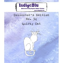 IndigoBlu Collectors Edition 34 Rubber Stamp - Quirky Cat (IND0591)
