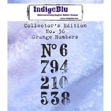IndigoBlu Collectors Edition 36 Rubber Stamp - Grunge Numbers (IND0593)