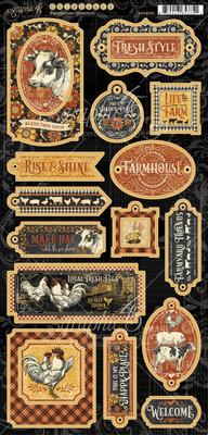Graphic 45 Farmhouse Chipboard (4502061)