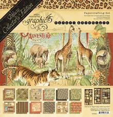 Graphic 45 Safari Adventure 12x12 Inch Deluxe Collector's Edition (4502022)