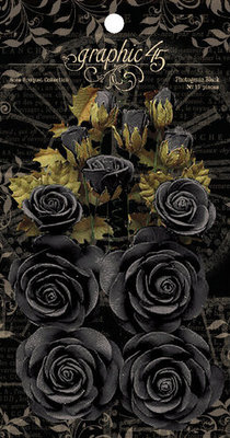 Graphic 45 Photogenic Black Linen Flowers (4501979)