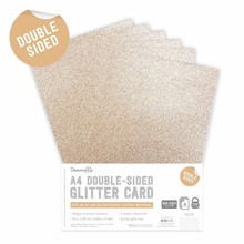 Dovecraft Double Sided Glitter Pack A4 Rose Gold (DCGCD037)