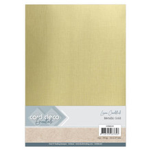 Card Deco Essentials Metallic Linnenkarton Metallic Gold (CDEML002)