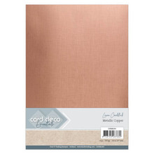 Card Deco Essentials Metallic Linnenkarton Metallic Copper (CDEML003)