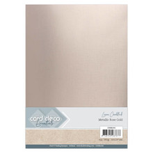 Card Deco Essentials Metallic Linnenkarton Metallic Rose Gold (CDEML004)