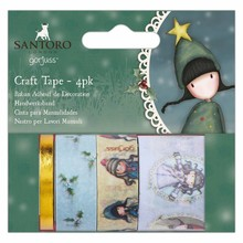 Gorjuss Christmas Craft Tape (4pk) (GOR 462900)