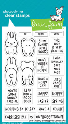 Lawn Fawn Don't Worry, Be Hoppy Clear Stamps (LF2232)