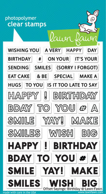 Lawn Fawn Offset Sayings: Birthday Clear Stamps (LF2235)