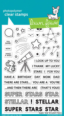 Lawn Fawn Super Star Clear Stamps (LF2241)