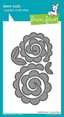 Lawn Fawn Rolled Roses Dies (LF2259)
