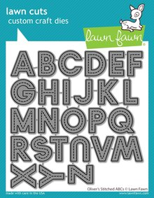 Lawn Fawn Oliver's Stitched ABCs Dies (LF2261)