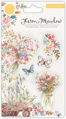 Craft Consortium Farm Meadow Florals Clear Stamps (CCSTMP027)