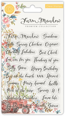 Craft Consortium Farm Meadow Sentiments Clear Stamps (CCSTMP028)
