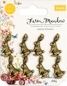 Craft Consortium Farm Meadow Rabbits Charms (CCMCHRM010)