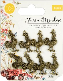 Craft Consortium Farm Meadow Rooster Charms (CCMCHRM011)