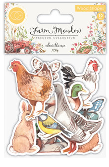 Craft Consortium Farm Meadow Animals Wood Shapes (CCWDNS005)