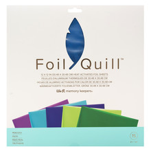 We R Memory Keepers Foil Quill Foil Sheets 12x12 Inch Peacock (661027)