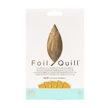 We R Memory Keepers Foil Quill Foil Sheets 4x6 Inch Gold Finch (30pcs) (660667)