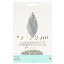We R Memory Keepers Foil Quill Foil Sheets 4x6 Inch Silver Swan (30pcs) (660668)