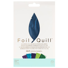 We R Memory Keepers Foil Quill Foil Sheets 4x6 Inch Peacock (30pcs) (660673)