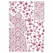 Stamperia Masking Stencil A4 Roses and Decorations (KSG439)