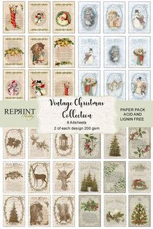 Reprint Vintage Christmas Cutouts A4 Paper Pack (RKP001)