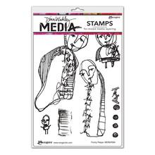Ranger Dina Wakley Media Cling Stamp Funny Peeps (MDR69584)