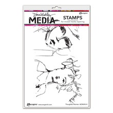 Ranger Dina Wakley Media Cling Stamp Thoughtful Women (MDR69614)