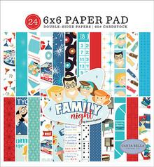 Carta Bella Family Night 6x6 Inch Paper Pad (CBFN114023)