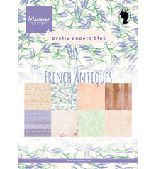 Marianne Design French Antiques A5 Pretty Papers Bloc (PK9167)