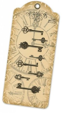 Graphic 45 Ornate Metal Keys (4500545)