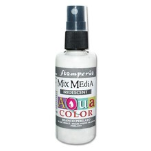 Stamperia Aquacolor Spray 60ml Iridescent Pearl White (KAQ019)