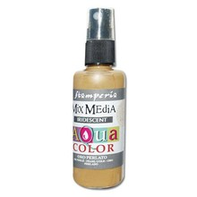 Stamperia Aquacolor Spray 60ml Iridescent Pearl Gold (KAQ021)
