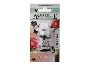 Stamperia Aquarelle Watercolor Black Agata (18ml) (KAWCL12)