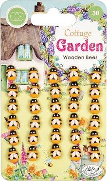 Craft Consortium Cottage Garden Wooden Bees (CCWDNS007)