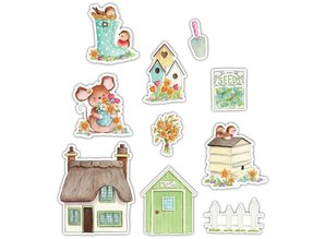 Craft Consortium Cottage Garden Printed Wooden Shapes (CCWDNS006)