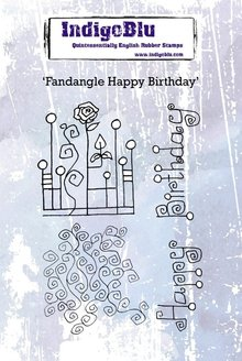 IndigoBlu Fandangle Happy Birthday A6 Rubber Stamp (IND0607)