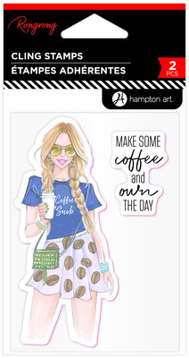 Hampton Art Art Coffee Snob Rubber Stamps (IC0403)