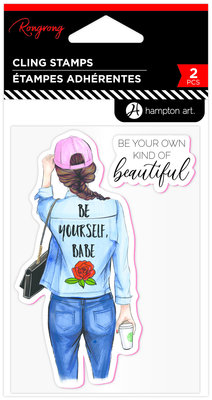 Hampton Art Be Yourself, Babe Rubber Stamps (IC0406)