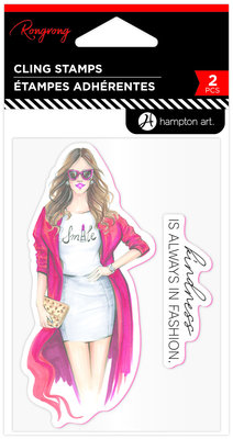 Hampton Art Kindness In Fashion Rubber Stamps (IC0407)