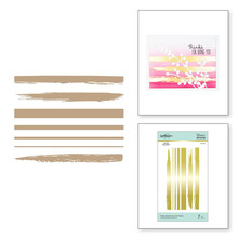 Spellbinders Foiled Brushstrokes and Stripes Hot Foil Plates (GLP-163)