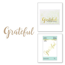 Spellbinders Sweeping Grateful Hot Foil Plates (GLP-165)