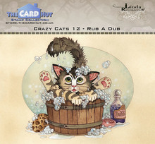 The Card Hut Crazy Cats Rub A Dub Clear Stamps (LRCC012)
