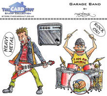 The Card Hut Garage Band Clear Stamps (MBGSGBD)