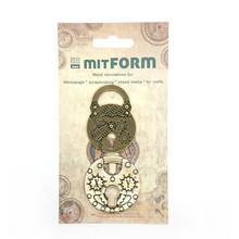Mitform Padlocks 2 Metal Embellishments (MITS044)