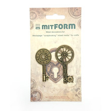 Mitform Keys 2 Metal Embellishments (MITS037)