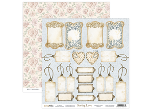 ScrapBoys Sewing Love 6x6 Inch Paper Pad (SELO-09)
