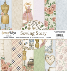 ScrapBoys Sewing Love 12x12 Inch Paper Set (SELO-08)